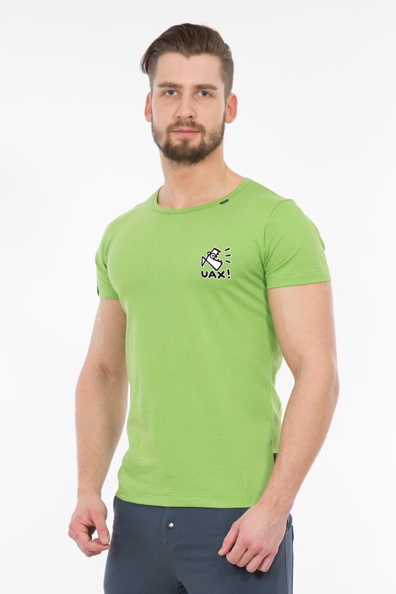 cef92796b722 Pánské tričko SLIM FIT UAX! pro muže s potiskem 1086 LOGO UAX! v ...