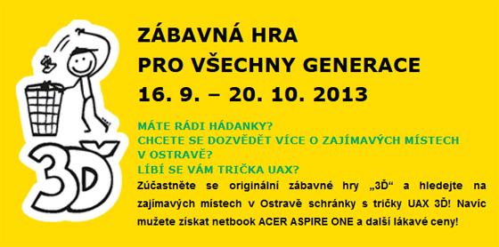 UAX a OZO Ostrava - zábavná hra 3Ď pro všechny generace