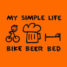 Potisk 1056 - BIKE BEER BED