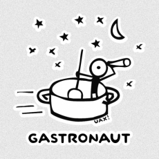 Potisk 1058 - GASTRONAUT
