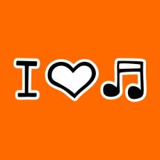 Potisk 1067 - I LOVE MUSIC