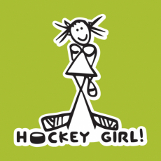 Potisk 1097 - HOCKEY GIRL