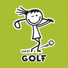 Potisk 1105 - GOLF GIRL UAX!