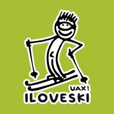 Potisk 1122 - I LOVE SKI