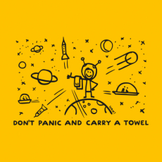 Potisk 1156 - DON'T PANIC GALAXY