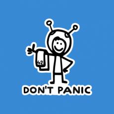 Potisk 1157 - DON'T PANIC