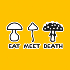 Potisk 1177 - EAT MEET DEATH