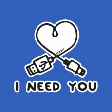 Potisk 1206 - I NEED YOU 2