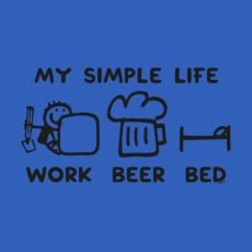 Design 1211 - MY SIMPLE LIFE WORK BEER BED