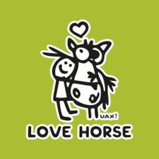 Potisk 1219 - LOVE HORSE