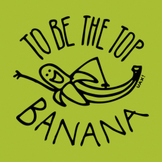 Potisk 1238 - TO BE THE TOP BANANA
