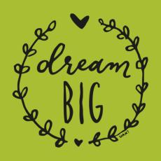 Potisk 1286 - DREAM BIG