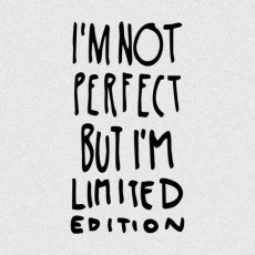 Potisk 1289 - IM NOT PERFECT