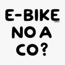Design 1292 - E-BIKE NO A CO?