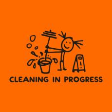 Potisk 5197 - CLEANING IN PROGRESS