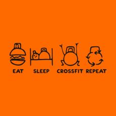 Potisk 5242 - EAT SLEEP CROSSFIT REPEAT