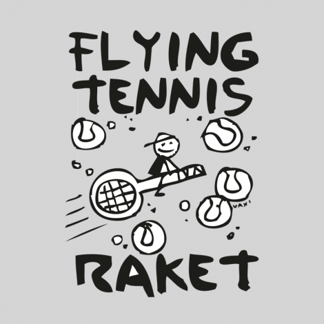 Potisk 599 - FLYING TENNIS RAKET
