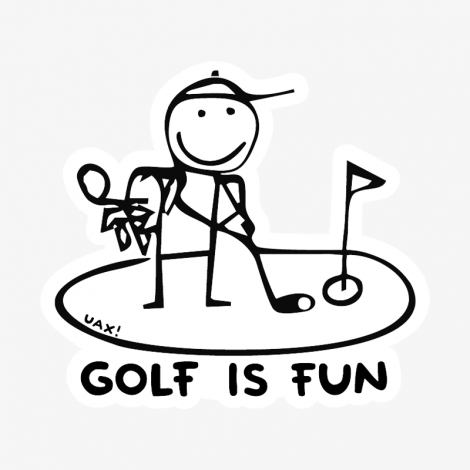 Potisk 1057 - GOLF IS FUN