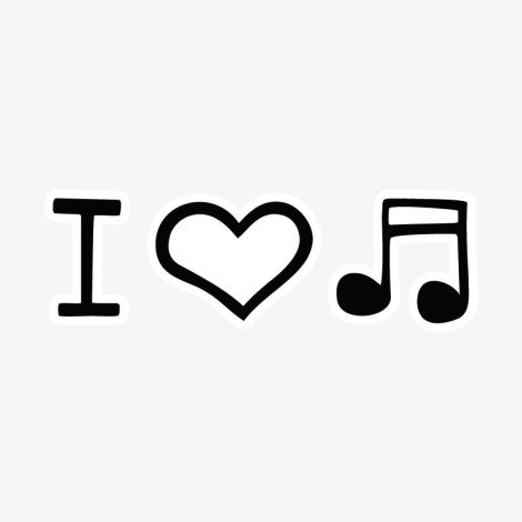 Design 1067 - I LOVE MUSIC