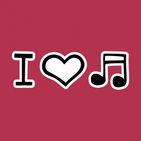 Design 1067 - I LOVE MUSIC