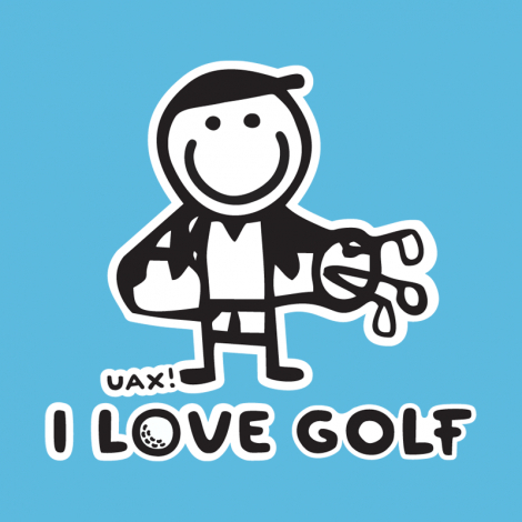 Potisk 1107 - I LOVE GOLF