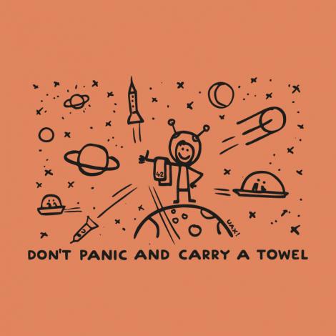 Potisk 1156 - DON'T PANIC GALAXY