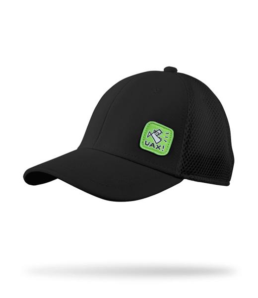 Kvalitní kšiltovka se síťkou a s nášivkou UAX! Golf kolekce v barvě BLACK 02c82eb978