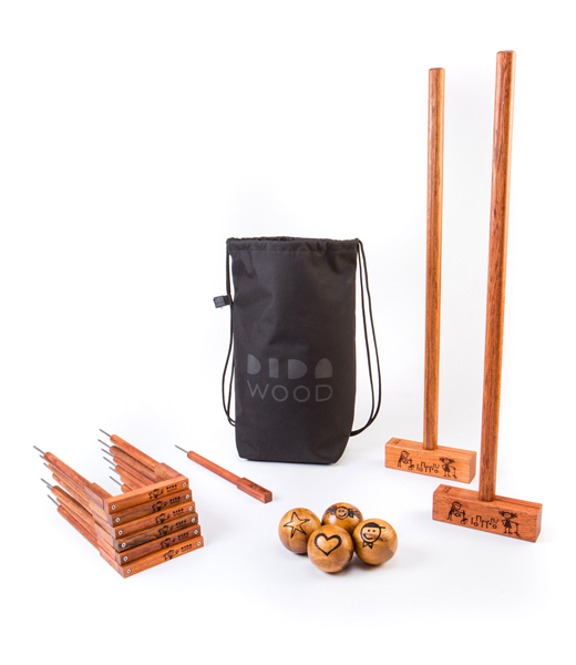 SET GOLF CROQUET UAX TWO HAMMERS