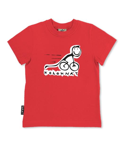 Dětské trička - SKRATCHILD pro děti s potiskem 1007 KOLO HNAT v barvě RED a396122506