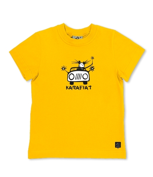 Dětské trička - SKRATCHILD pro děti s potiskem 1008 KARAFIAT v barvě GOLDEN  CREAM 3628012055