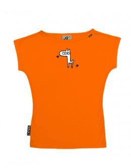 UAX Dámské tričko Netopýr s potiskem. Fitness kolekce pro ženy s potiskem  480 ZIRAFA v barvě SIGNAL ORANGE  cde9be3cfc