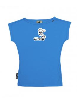 UAX Dámské tričko Netopýr s potiskem. Fitness kolekce pro ženy s potiskem  1036 OVČÍ VLNA v barvě CAPRI BLUE  1e01d045de
