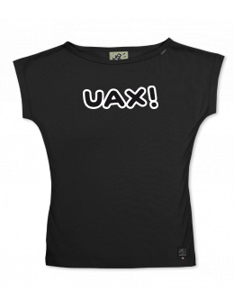 UAX Dámské tričko Netopýr s potiskem. Fitness kolekce pro ženy s potiskem  1096 UAX! v barvě BLACK  9807086dba