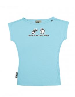 UAX Dámské tričko Netopýr s potiskem. Fitness kolekce pro ženy s potiskem  1134 NEČUM TÍMHLE TÓNEM v barvě PASTEL BLUE  2bd3aaccec