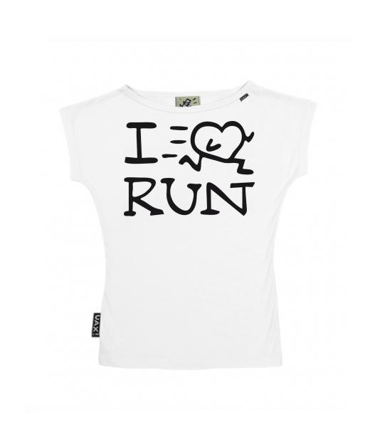 UAX Dámské tričko Netopýr s potiskem. Fitness kolekce pro ženy s potiskem  1088 I LOVE RUN v barvě WHITE. TRIČKO NETOPÝR dccd79e7fe