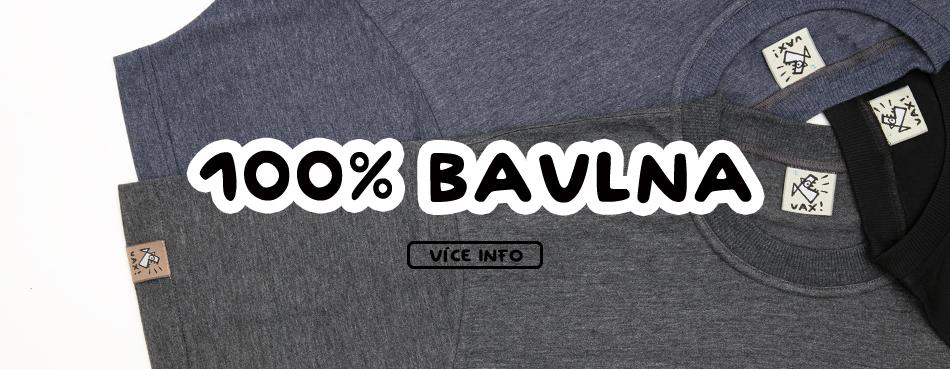 100% bavlna pánské tričko