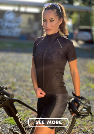 Quality women's cycling jerseys with an original UAX design!